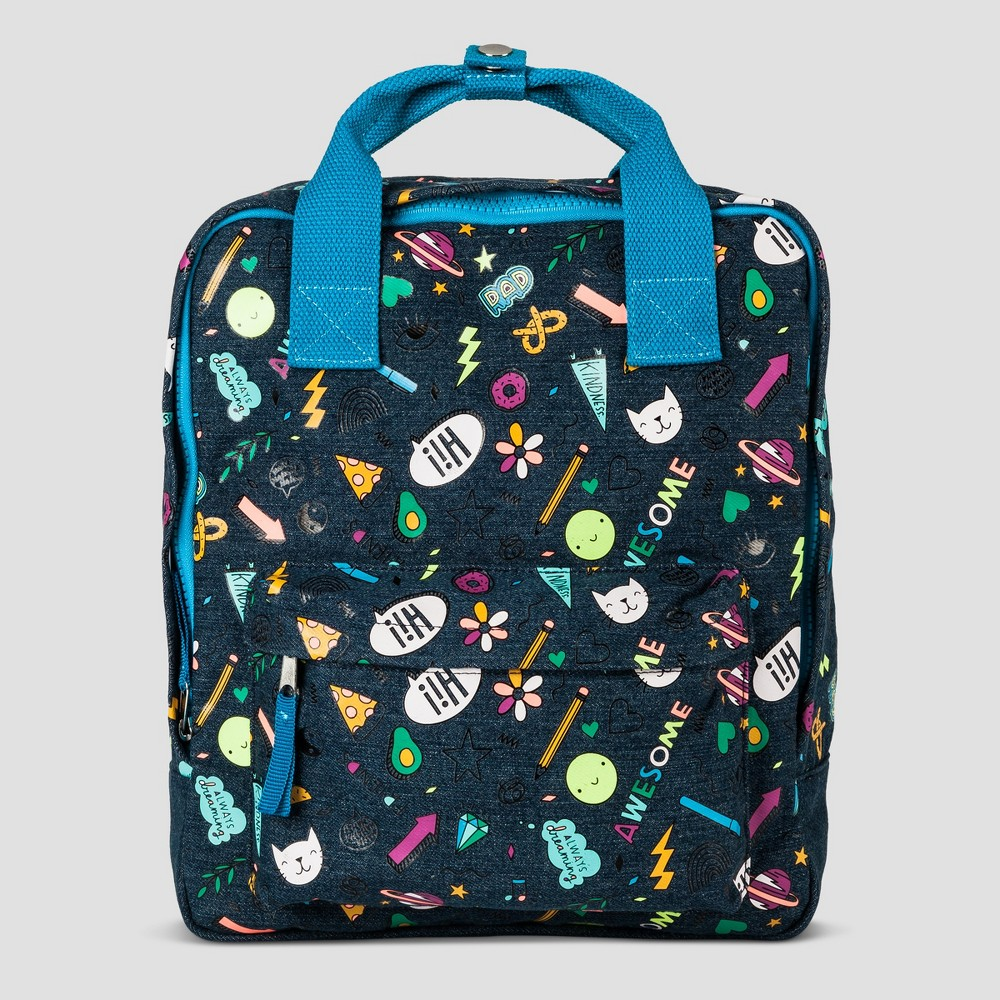 Kids' Multi Print Backpack - Cat & Jack Blue