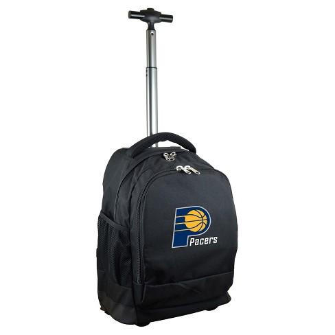 NBA Indiana Pacers Mojo Premium Wheeled Backpack - Black - image 1 of 4
