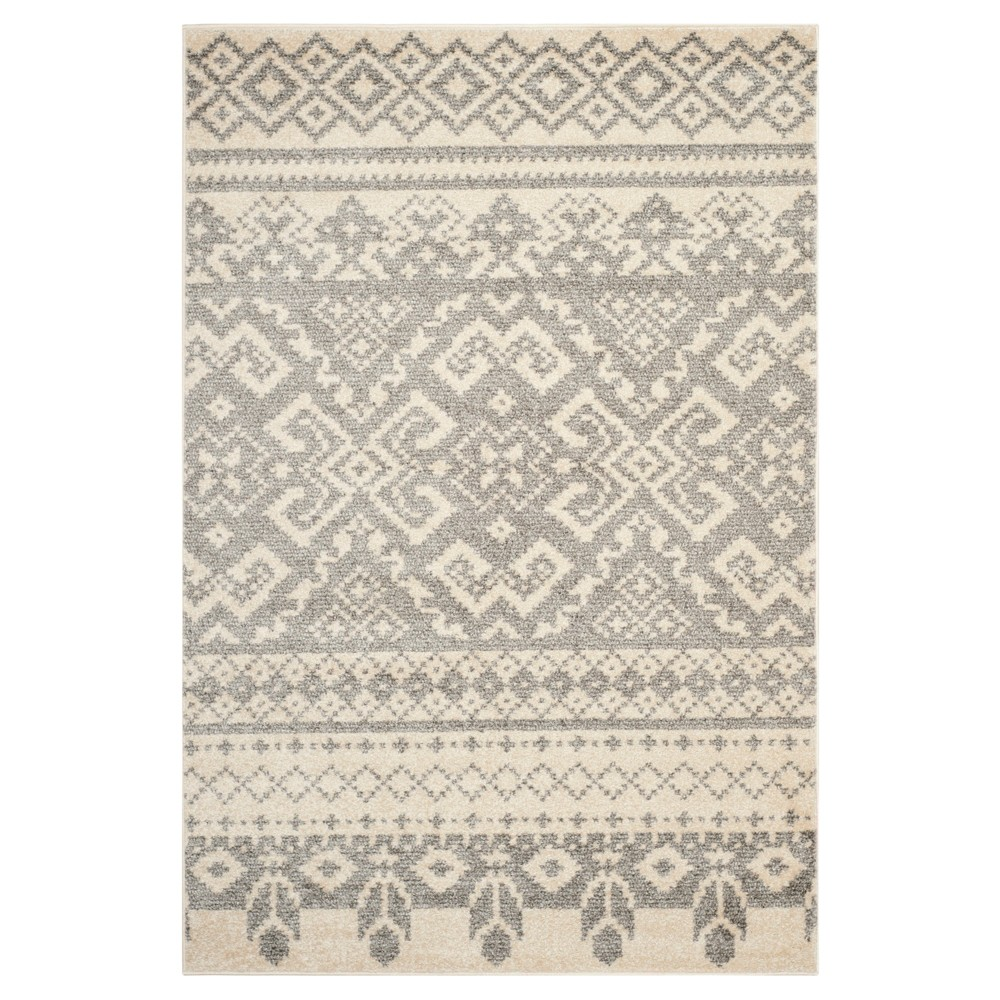 Adron Area Rug - Ivory/Silver (6'x9') - Safavieh