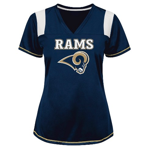 Los Angeles Rams Women's Shimmer Top XL - image 1 of 1