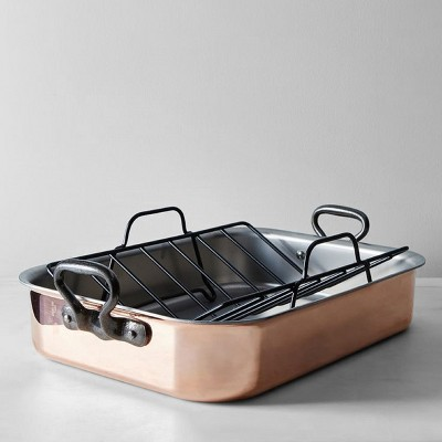 13 x16.5  Roasting Pan with Rack Gold - Threshold™
