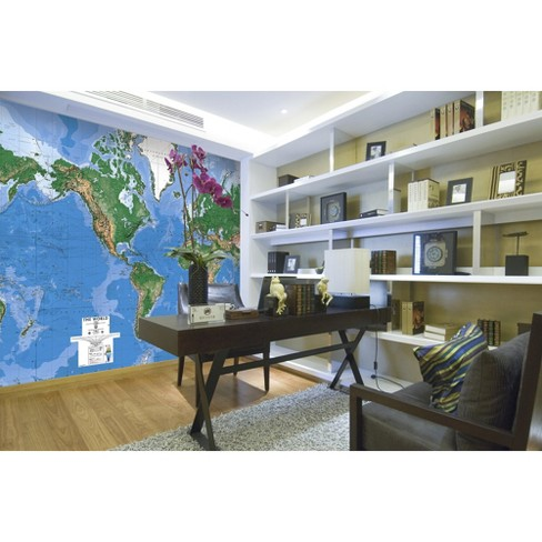 World map wall mural 88x130 target gumiabroncs Image collections