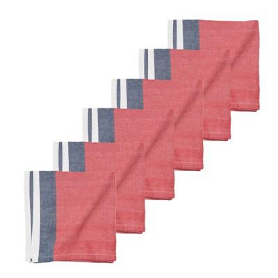 C&F Home Liberty Stripe July 4th Napkin Set 6