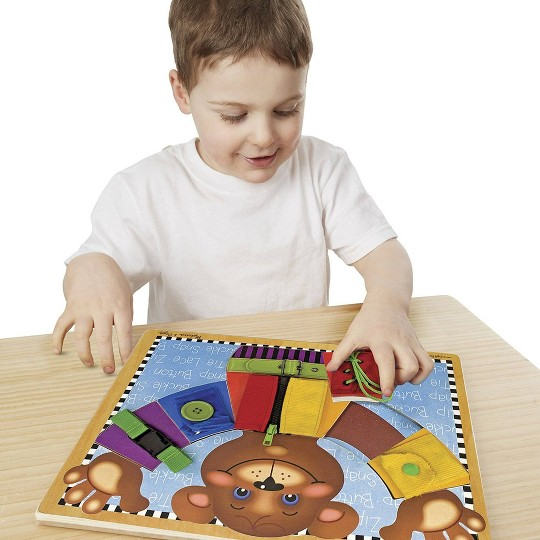 Melissa & Doug Basic Skills Board and Puzzle - Wooden Educational Toy image number null