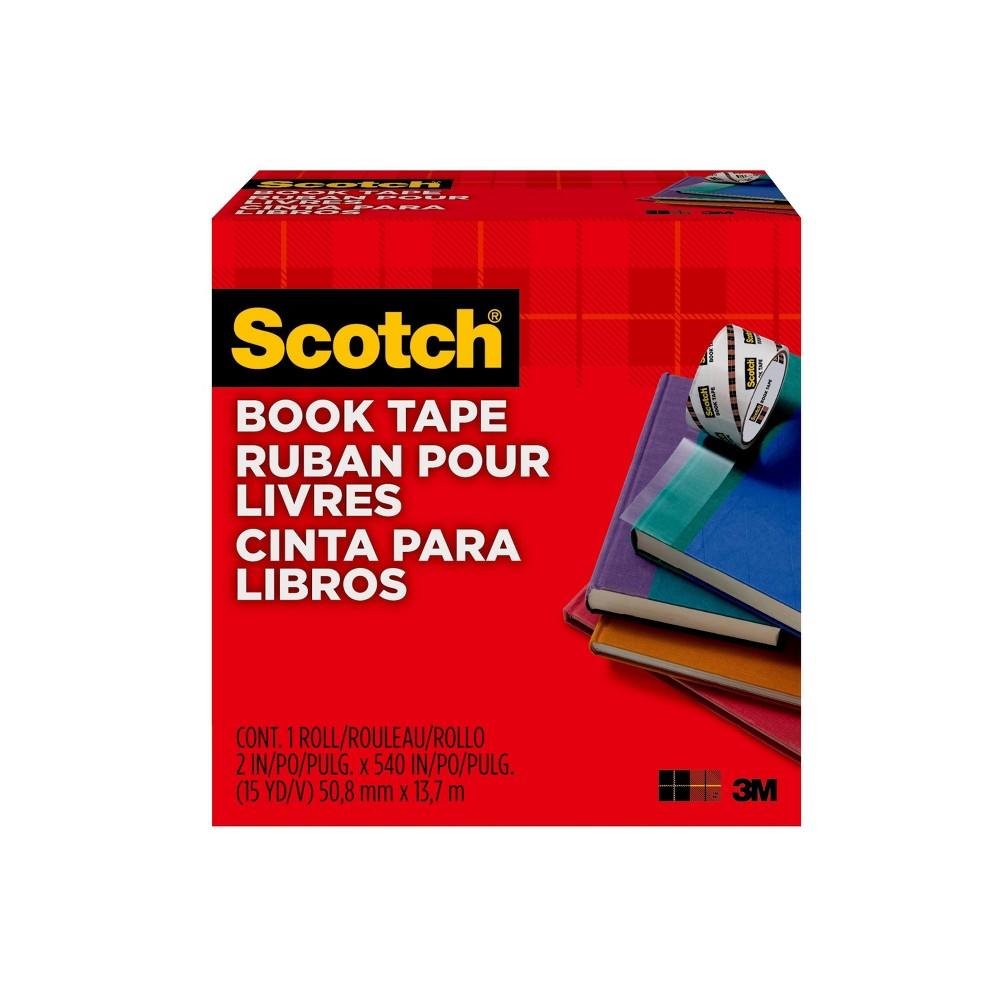 Scotch Book Repair Tape (Book Cover) - 2 in x 15yd, Light Clear