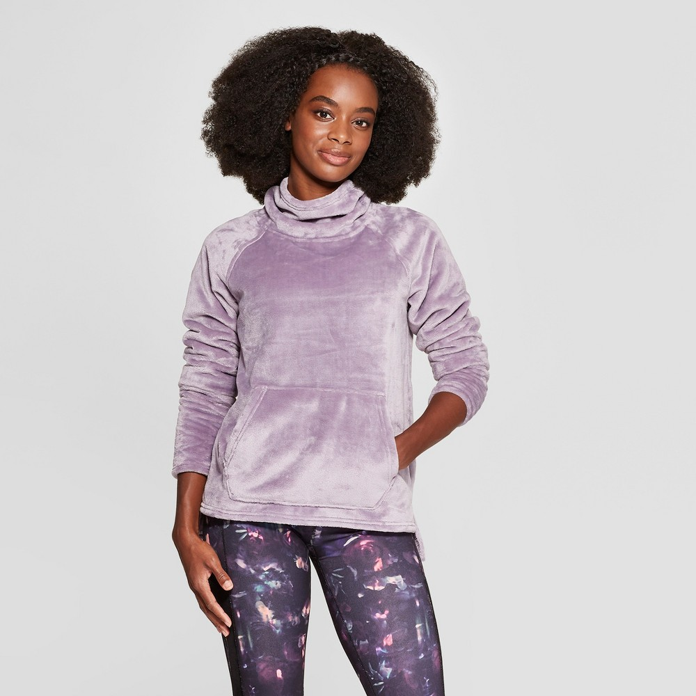 Women's Luxe Fleece Pullover - C9 Champion Smoked Lilac L