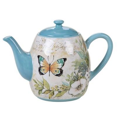 40oz Earthenware Nature Garden Teapot - Certified International