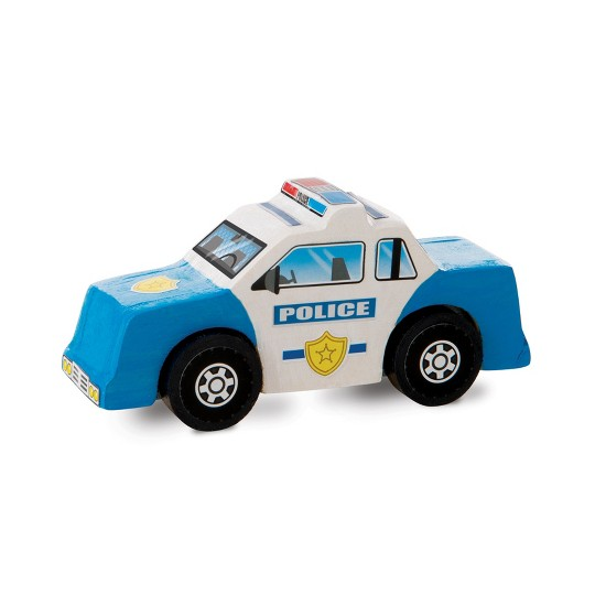 Melissa & Doug Decorate-Your-Own Wooden Rescue Vehicles Craft Kit - Police Car, Fire Truck, Helicopter image number null