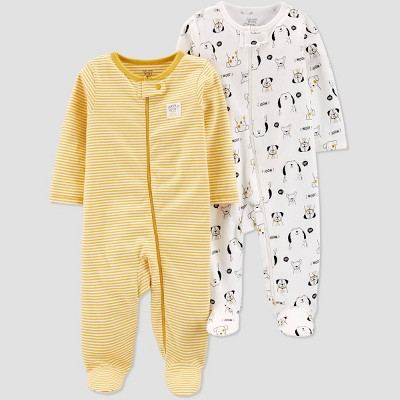 Baby Boys' 2pk Lion & Stripe Sleep 'N Play - Just One You® made by carter's 3M Orange