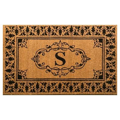 nuLOOM Monogrammed Doormat - Letter S (2' 6  x 4')