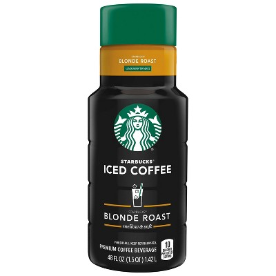 Starbucks Unsweetened Blonde Roast Iced Coffee - 48 fl oz