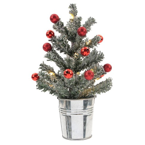 the best attitude ef664 50a98 Philips Battery Operated LED Flocked Christmas Tree Light with Red Ornaments