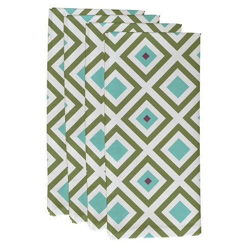 Diamond Mayhem Geometric Print Napkin Set - image 1 of 1