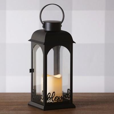 Lakeside Sentiment Lantern with LED Candle, Farmhouse Design