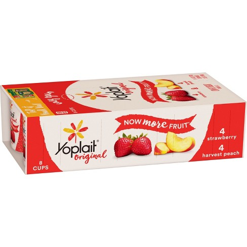 Yoplait Strawberry/Harvest Peach Yogurt - 8oz - image 1 of 3