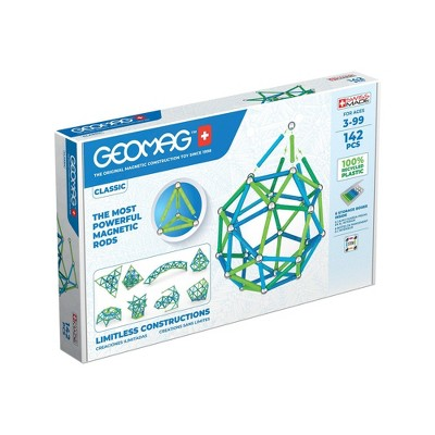 Geomag GREEN LINE Color Magnetic Building Set 142pc