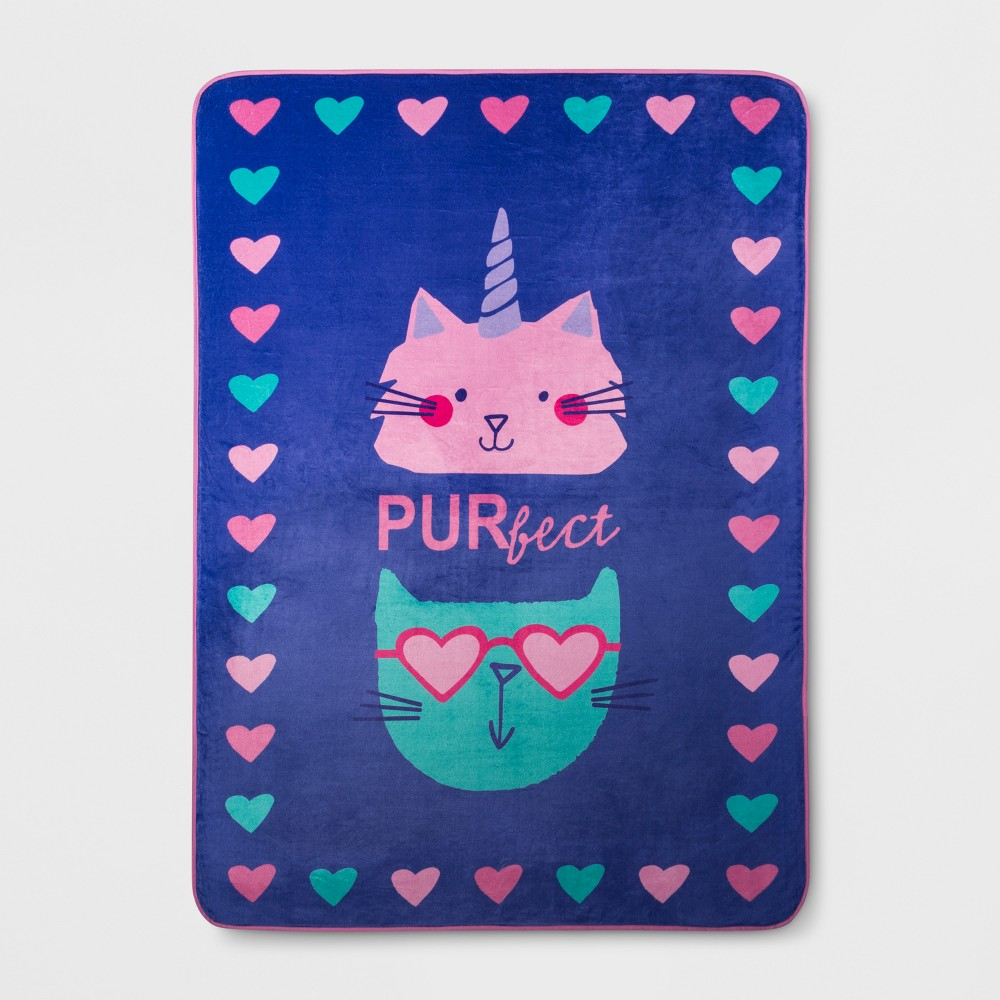 "Image of ""R U Kitten Me 62""""x90"""" Bed Blanket"""