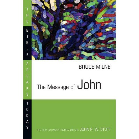 The Message of John - (Bible Speaks Today) by  Bruce Milne (Paperback) - image 1 of 1