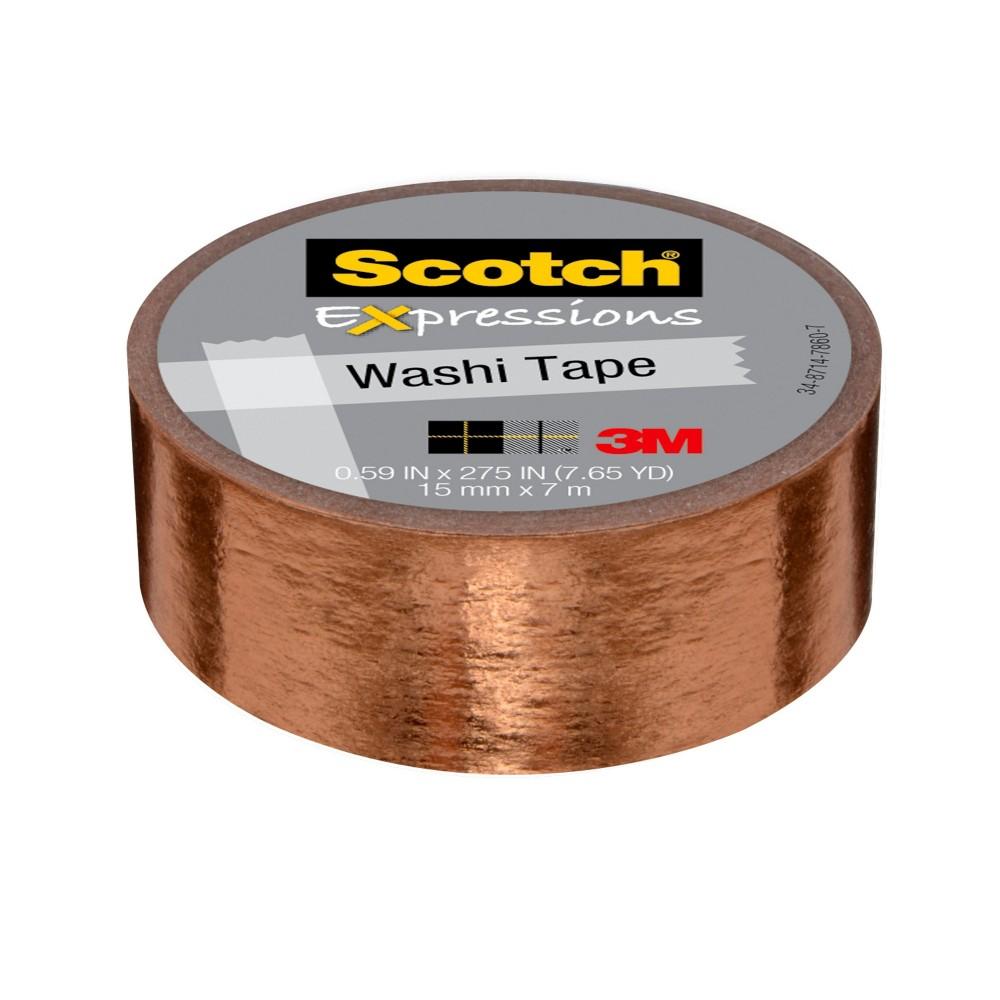 Scotch(R) Expressions Washi Tape, .59 in x 275 in, Copper Foil