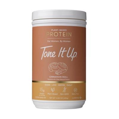 Tone It Up Plant-Based Protein Powder - Cinnamon Roll - 14.82oz