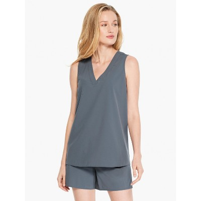NIC+ZOE Women's Tech Stretch V Tank Slate