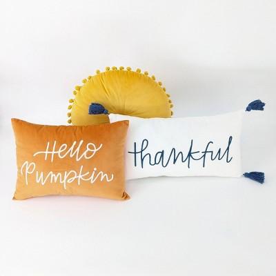 3ct Throw Pillows Hello Pumpkin/Thankful - Bullseye's Playground™