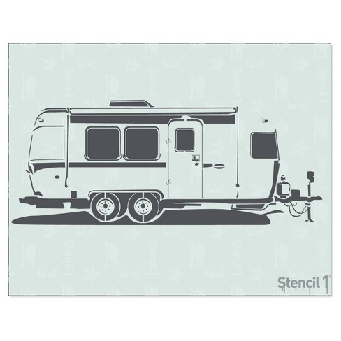 "Stencil1® Airstream - Stencil 8.5"" x 11"" - image 1 of 3"