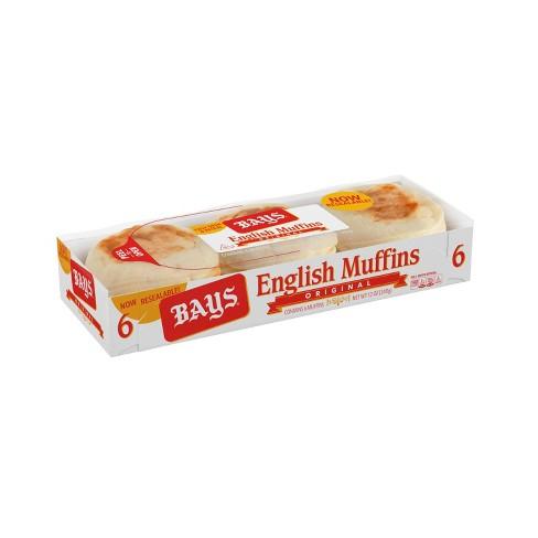 Bays Original English Muffins - 12oz/6ct - image 1 of 4