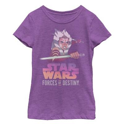 Girl's Star Wars Forces of Destiny Ahsoka Fight T-Shirt