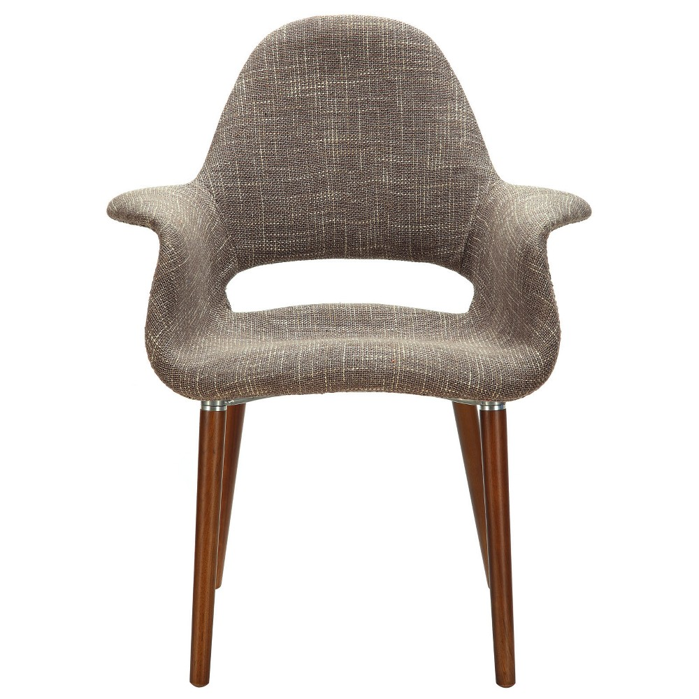 Aegis Dining Armchair Taupe Brown - Modway
