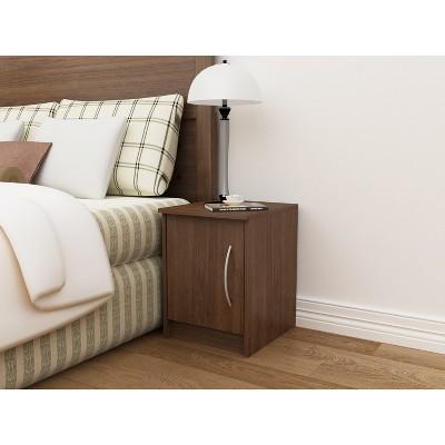 Addison 1 Door Nightstand Walnut Brown - Loft 607