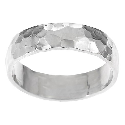 Women's Journee Collection Handcrafted Hammered Band in Sterling Silver - Silver (5 mm) - image 1 of 2
