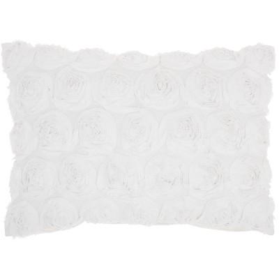 Mina Victory Life Styles Denim Roses Throw Pillow