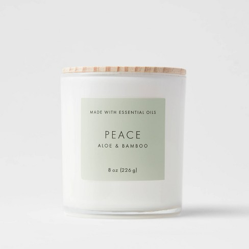 Wood Lidded Glass Wellness Peace Candle - Project 62™ - image 1 of 3