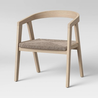 Dora Curved Back Wood Chair with Woven Seat Natural - Project 62™
