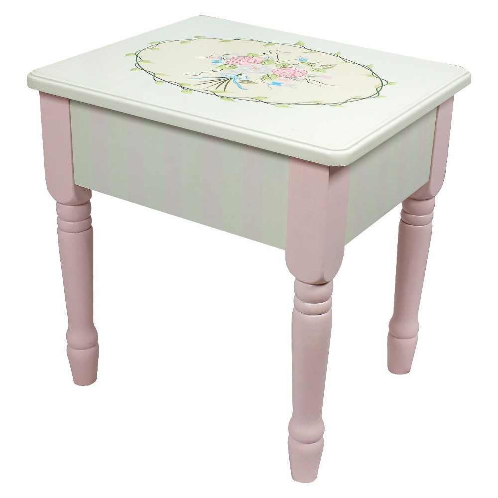 Fantasy Fields Bouquet Vanity Stool Wood - Teamson