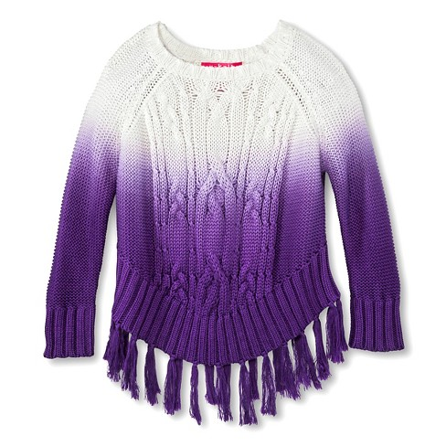 Toddler Girls' U-Knit Hombre Sweater - Purple 5T - image 1 of 1