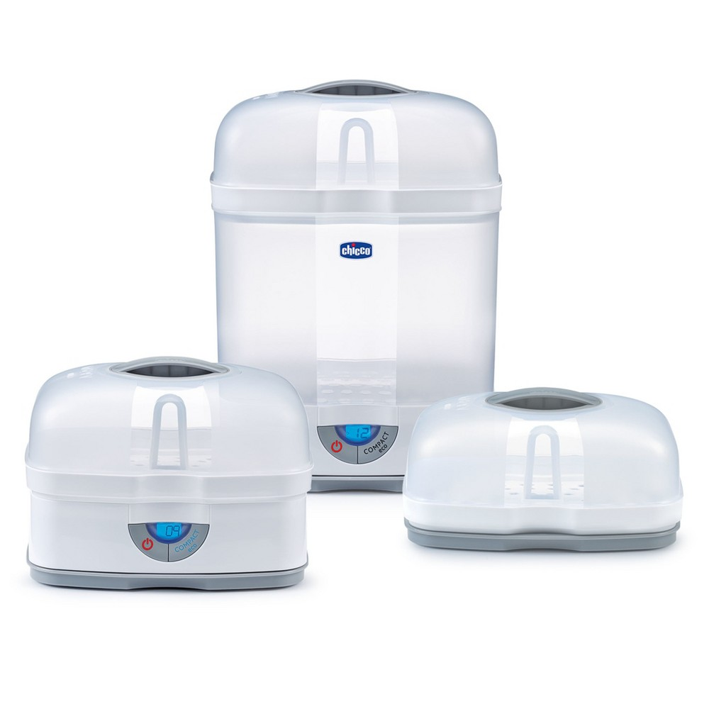 Chicco NaturalFit 3 in 1 Modular Sterilizer, Clear