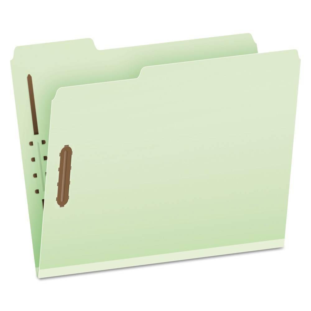 """Image of """"Pendaflex Pressboard Classification Folders, 2 Fasteners, 25 ct - Green, Size: 1"""""""""""""""
