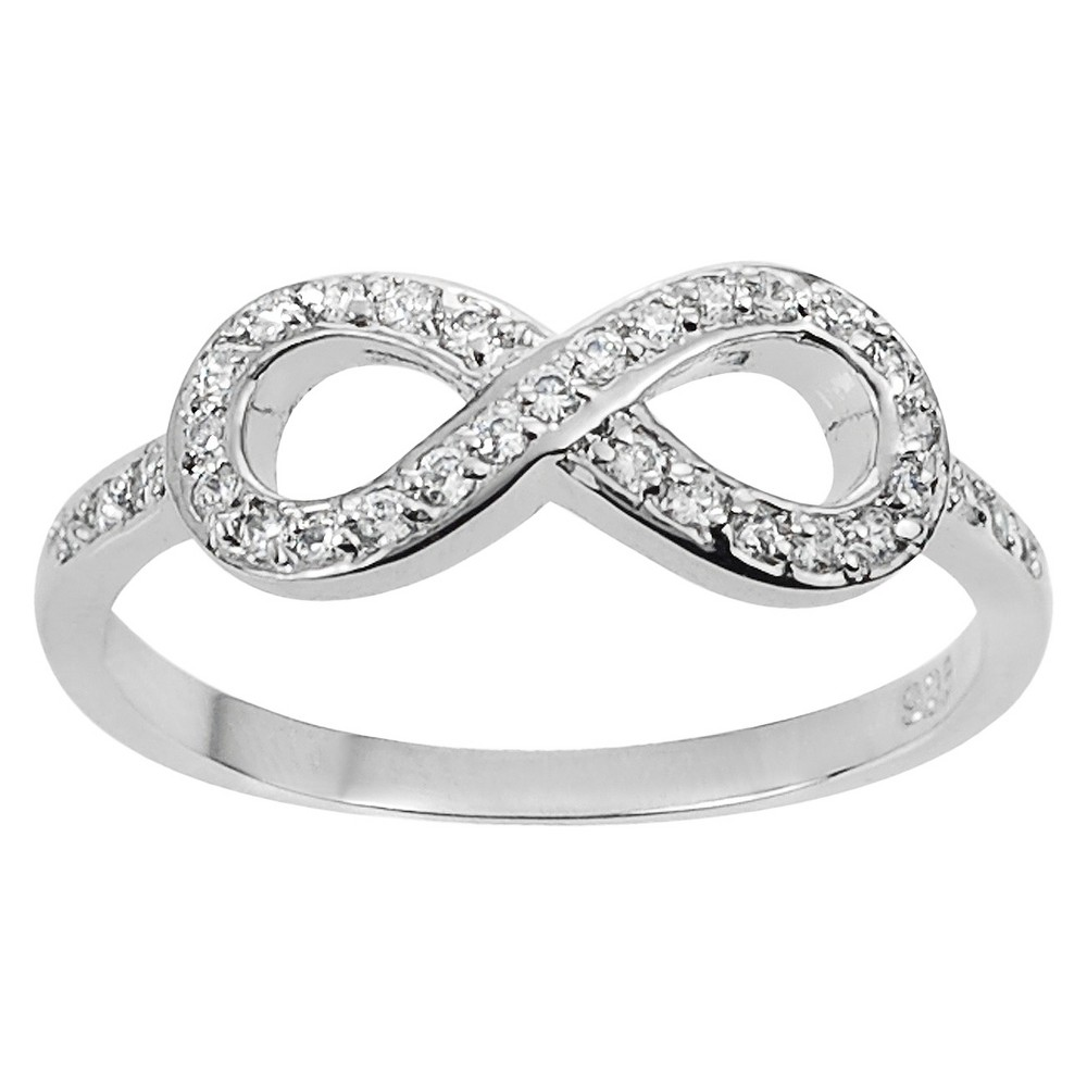 Tressa Collection Sterling Silver Cubic Zirconia Infinity Ring - Silver 5, Girl's