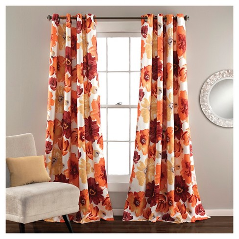Leah Curtain Panels Room Darkening - Set of 2 - image 1 of 1