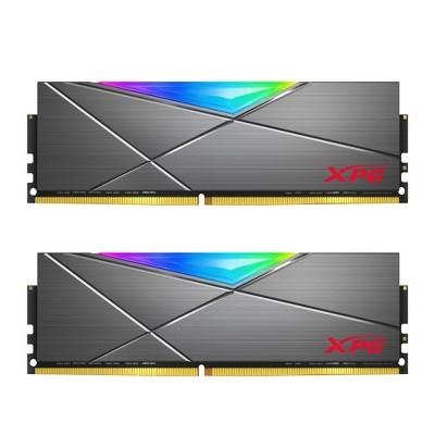 XPG SPECTRIX D50 RGB Desktop Memory: 16GB (2x8GB) DDR4 3600MHz CL18 Grey - 2pc