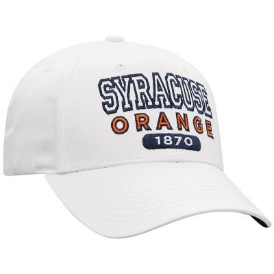 NCAA Syracuse Orange Men's White Twill Structured Snapback Hat