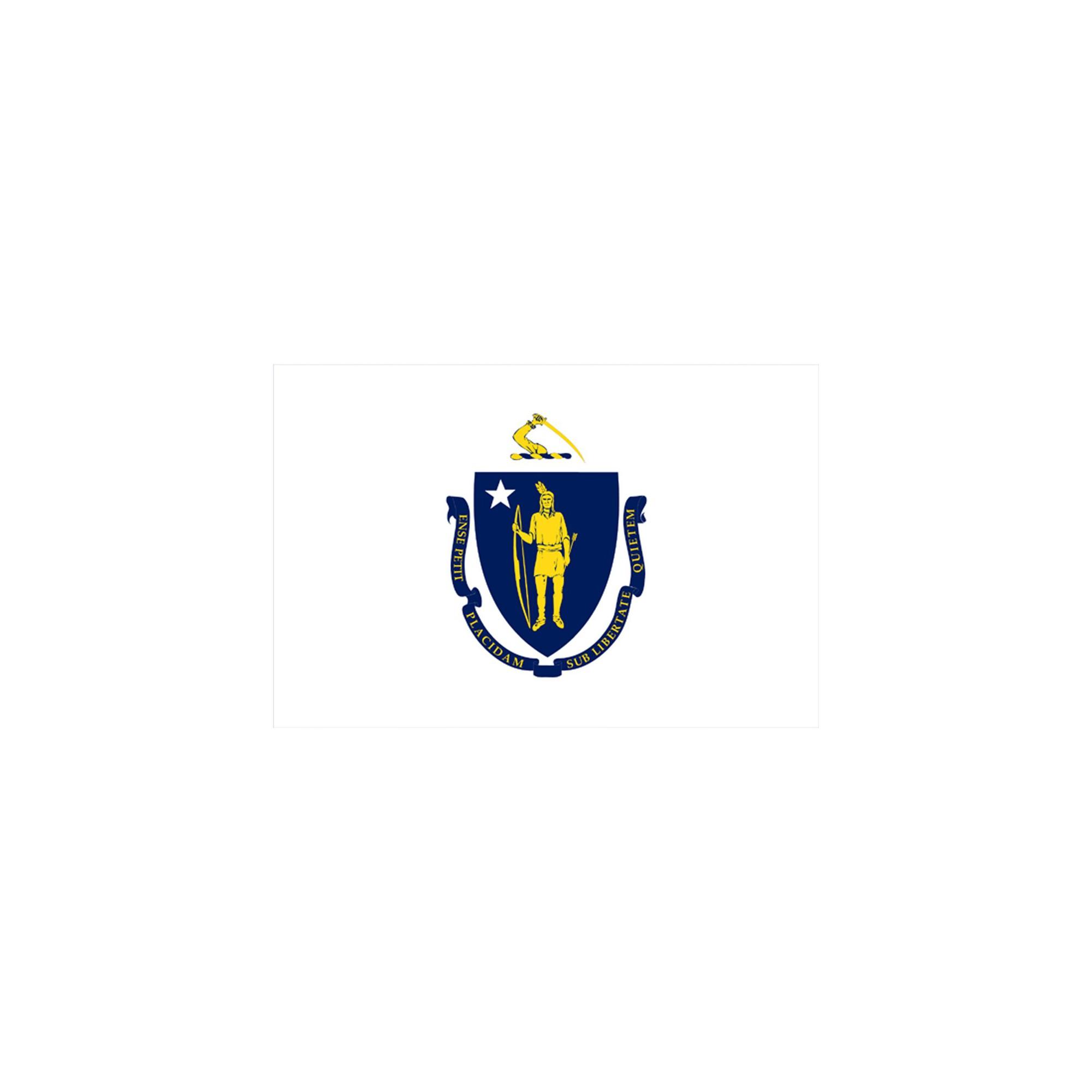 Halloween Massachusetts State Flag - 3' x 5'