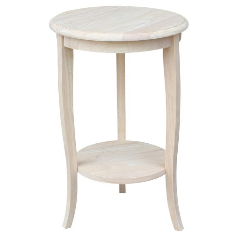 Cambria Tall Round End Table - Unfinished - International Concepts - image 1 of 4