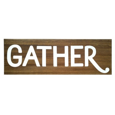 24.4 X8.4  Gather Wood Wall Decor Brown - Threshold™