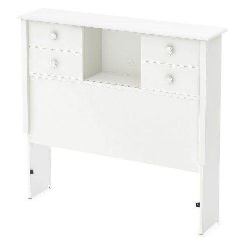 "Little Smileys Twin Bookcase Headboard with Sliding Doors - 39""- Pure White - South Shore - image 1 of 5"