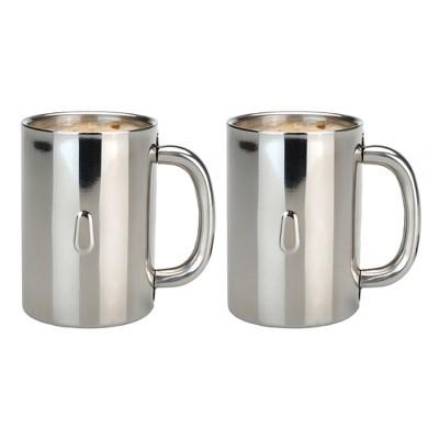 BergHOFF Straight 12oz 18/10 Stainless Steel Coffee Mug, Set of 2