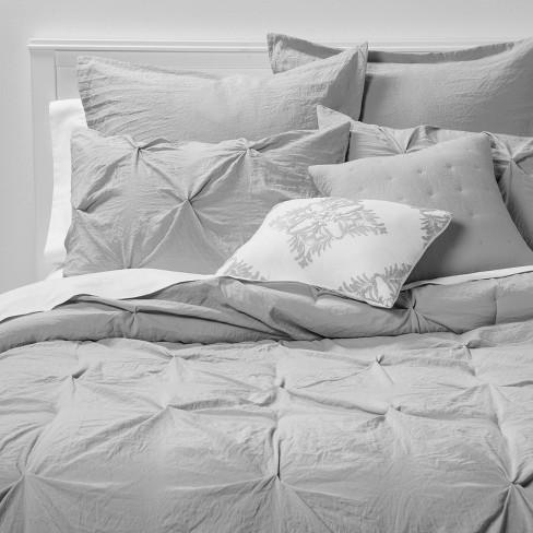 8pc Montvale Pinch Pleat Comforter Set - Threshold™ - image 1 of 4