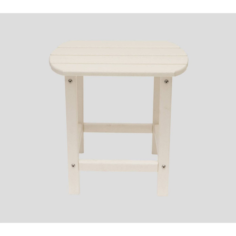 "Image of ""Corona 18"""" Recycled Plastic Side Table - White - LuXeo"""